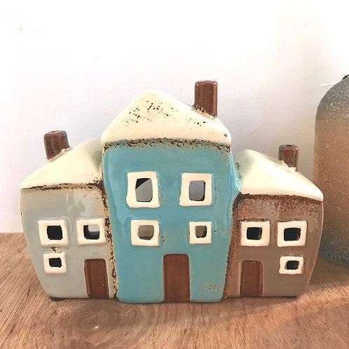 Row of Houses T-light Holder