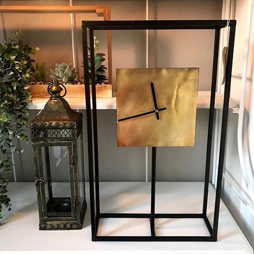 Gold and Black Frame Clock