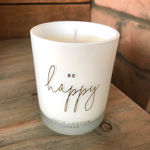 Be Happy Katie Loxton Candle Pomelo and Lychee Flower Soy Wax Scented Candle