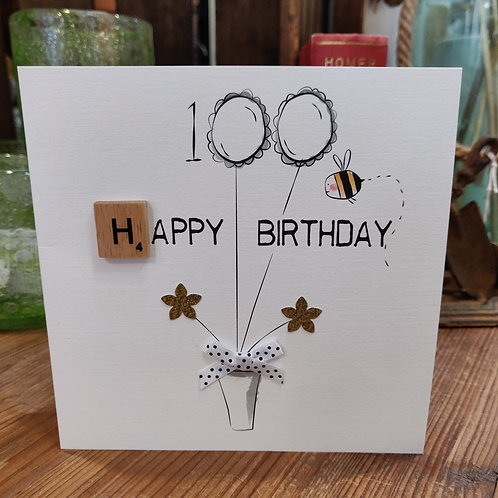 Bexy Boo Greeting Card Birthday Age 100