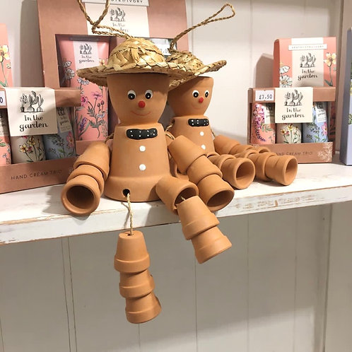 Large Terracotta Pot Man