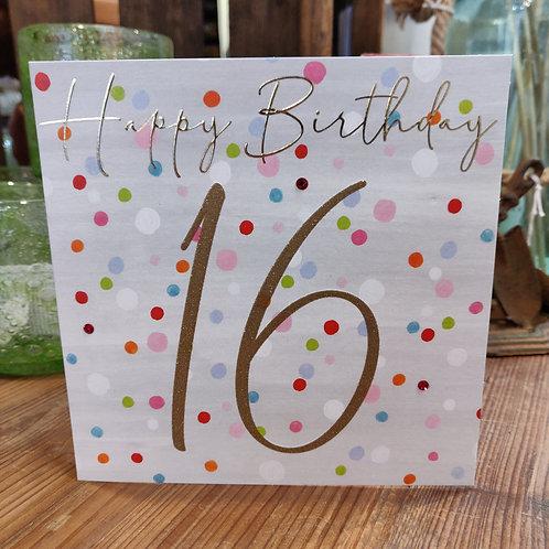 Janie Wilson Greeting Card Birthday Age 16