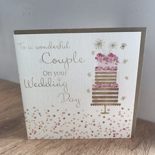 To a Wonderful Couple on your Wedding Day Card