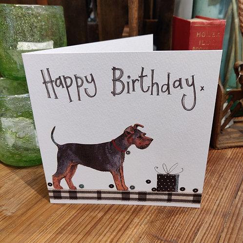 Happy Birthday Greeting Card Alex Clark Dog