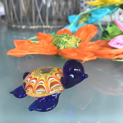 Baby Timmy The Turtle Glass Ornament Gift Shop Hinckley