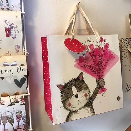 Cat Bouquet Gift Bag