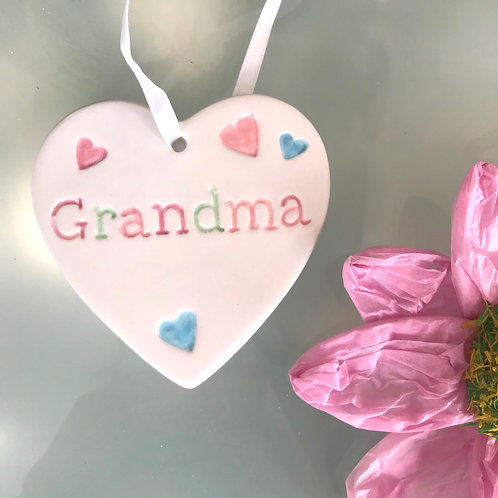 Grandma Ceramic Heart