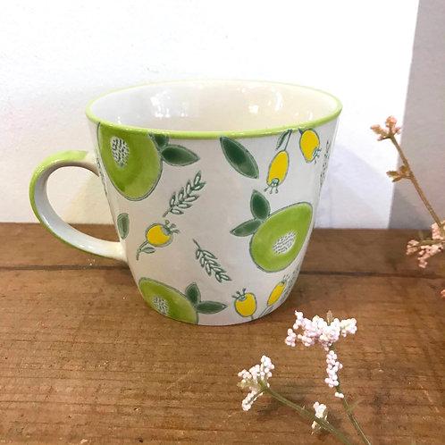 Green Berry Ceramic Mug