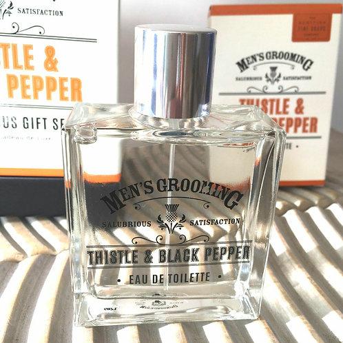 Thistle & Black Pepper Eau De Toilette Scottish Fine Soaps
