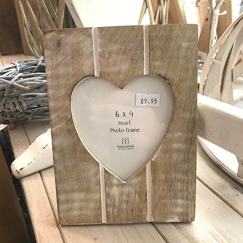 Grooved Wooden Heart Frame