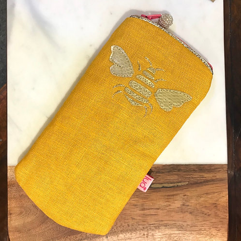 Yellow Bee Glasses Purse