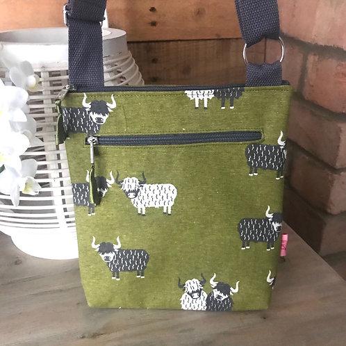 Highland Cow Messenger Bag
