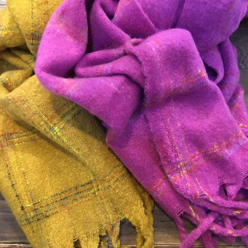 Multicoloured Check Scarves