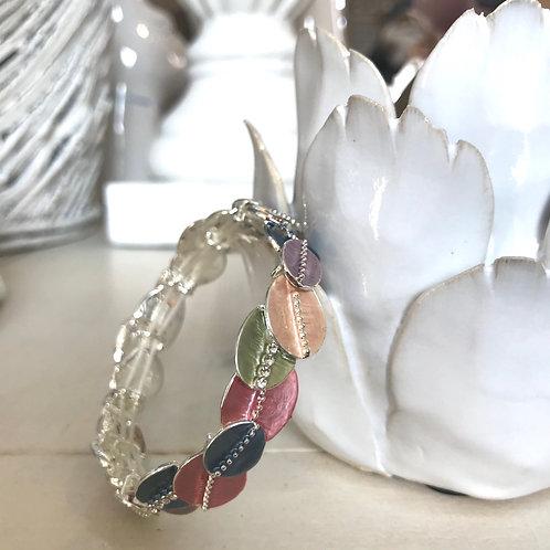 Multi-coloured Leaf Design Bracelet Gift for Her