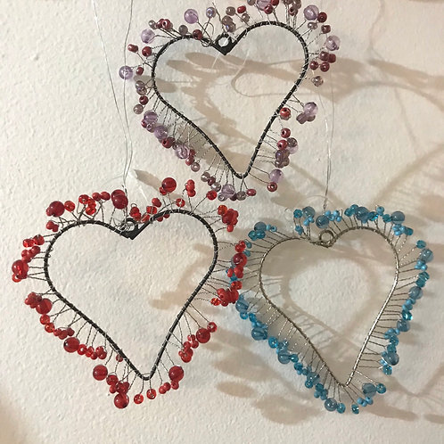 Dinky Beaded Hearts