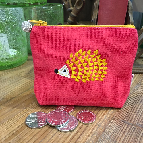 Cerise Hedgehog Coin Purse
