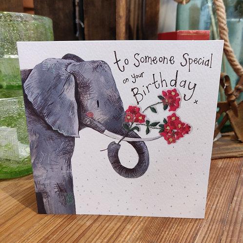 Happy Birthday Greeting Card Alex Clark Elephant