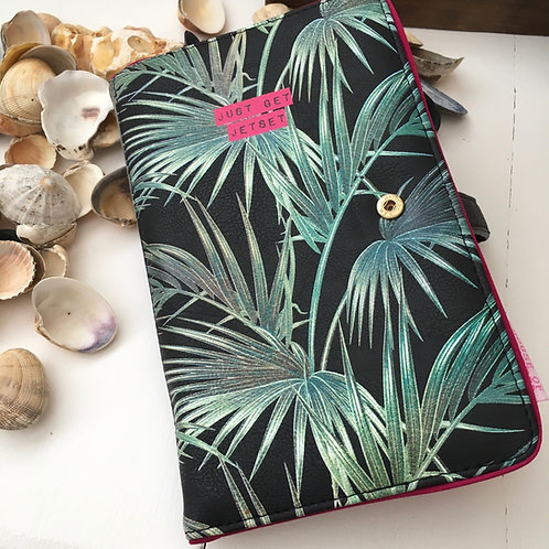 Just Get Set Set Tropical Palm Tree Petal Travel Wallet Passport Cover