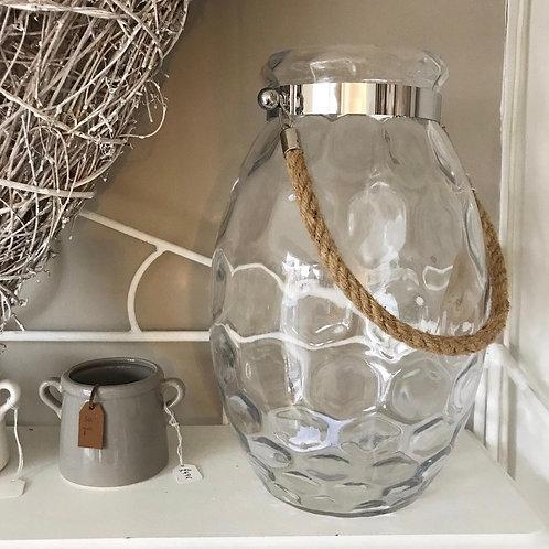 Glass Dimple Lantern