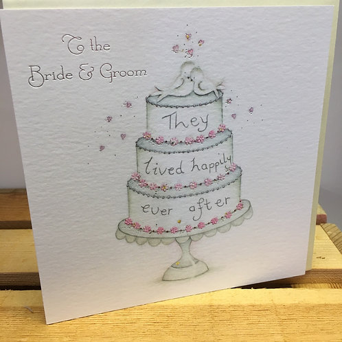 To the Bride & Groom Wedding Card