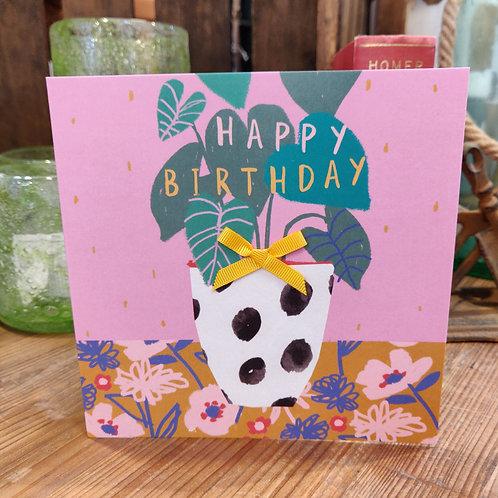 Birthday Card Stop The Clock Designs Happy Birthday Plant