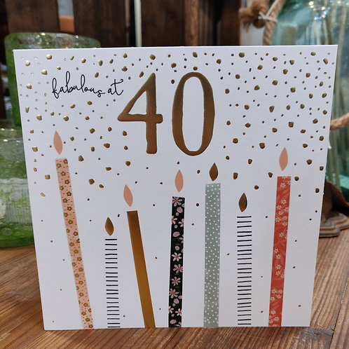 Blue Eyed Sun Greeting Card Birthday Age 40