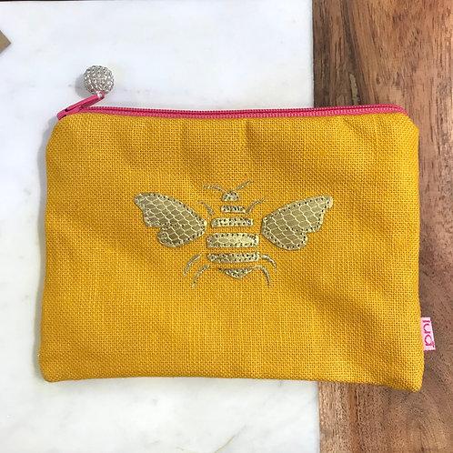 Yellow Bee Cosmetic Purse