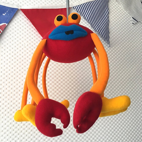 Claude the Crab Springy Distraction Mobile Nursery Decoration Toy Sea Creature