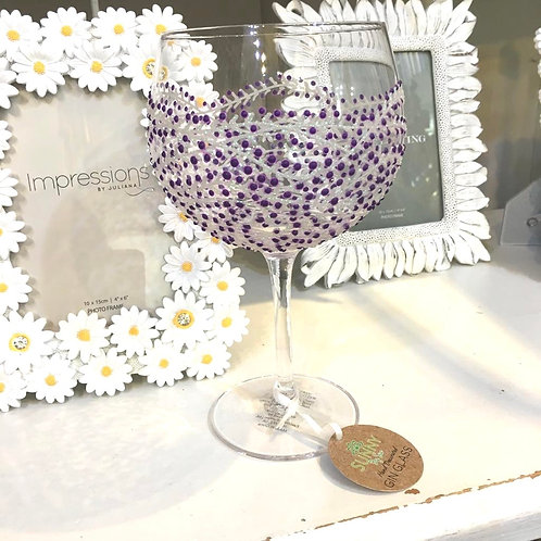 Purple Jazz Gin Glass
