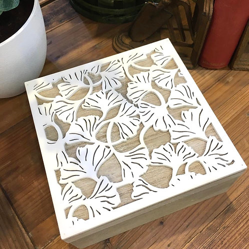 Gingko Leaf Wooden Box