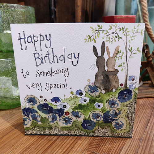 Happy Birthday Greeting Card Alex Clark Bunnies