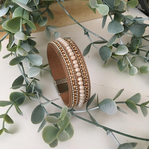 Copper Gold Wrap Bracelet