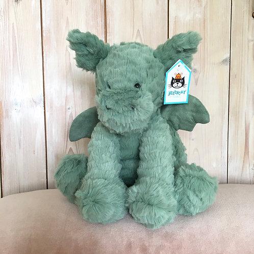 Fuddlewuddle Dragon Jellycat Cuddly Toy Mint Green