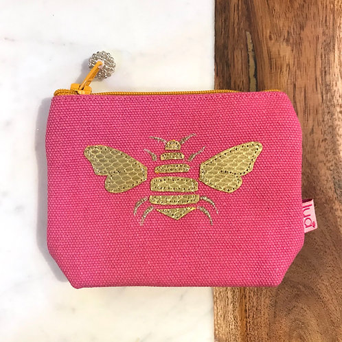 Pink Bee Coin Purse