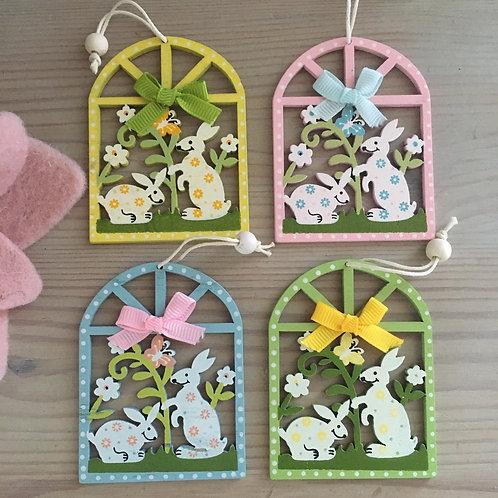 Set of 4 Rabbit Decorations