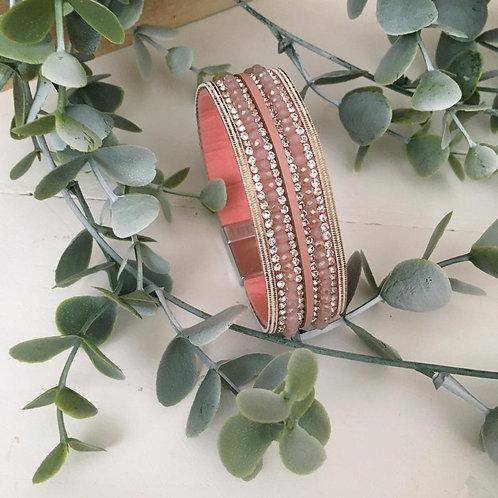 Dusty Rose Wrap Bracelet