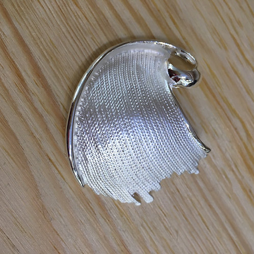 Stylised Leaf Brooch Gift Shop Hinckley Accessories Magnetic