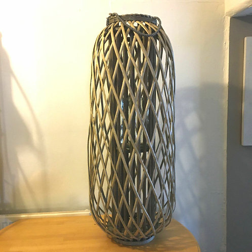Large Wicker Lantern Statement Home Decor Interior Design