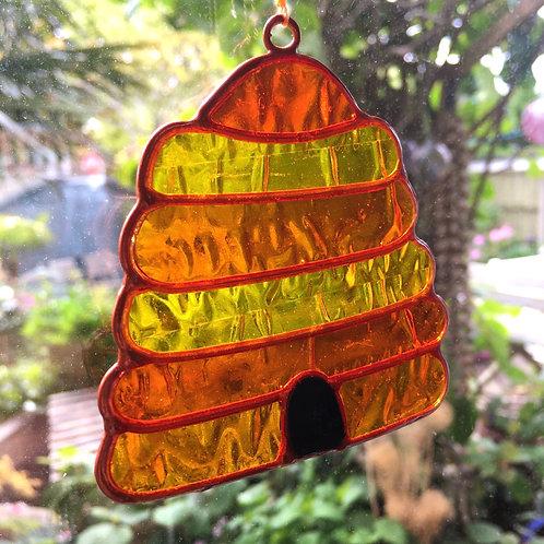 Beehive Bee Suncatcher Home Garden Decor Gift