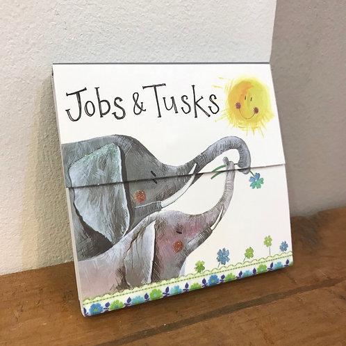 Elephant Jobs & Tusks Notepad