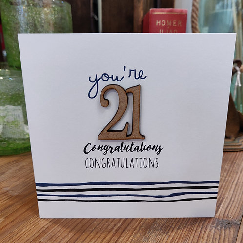 Tracey Russell Greeting Card Birthday Age 21