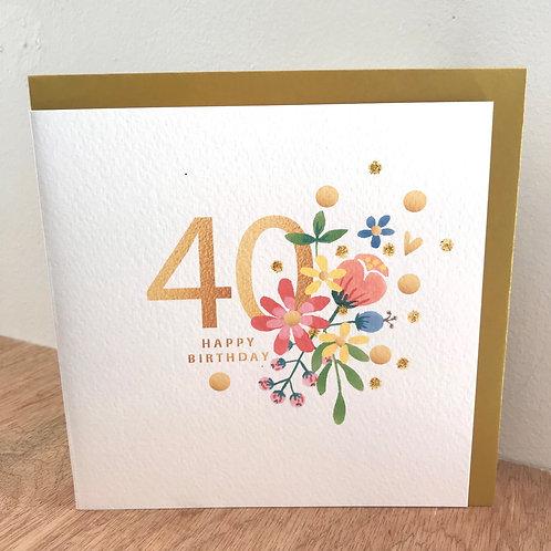40 Happy Birthday Card