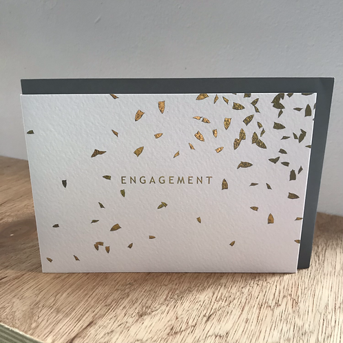 Engagement Gold Foil Greeting Card