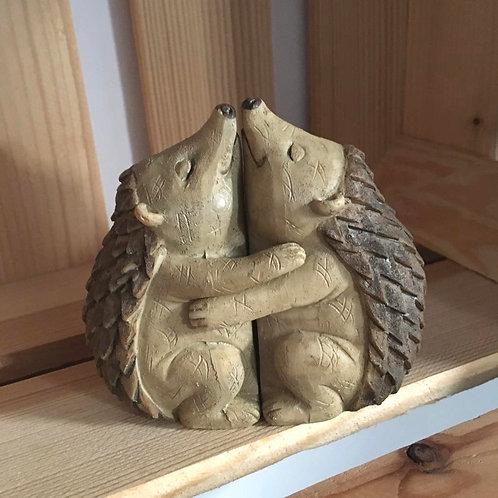 Hedgehog Hugs Ornament