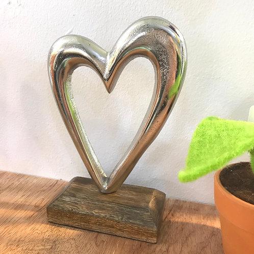 Cast Aluminium Heart