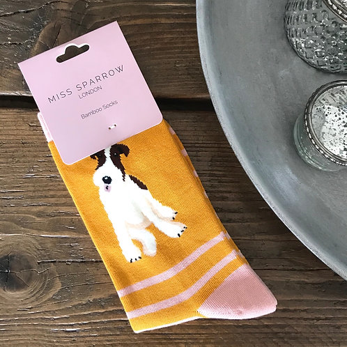 Fox Terrier Bamboo Socks