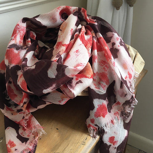 Shades of Gingerbread with Peach and Dark Marmalade Colour Scarf