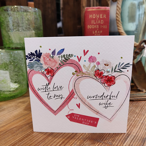 Valentine's Day Greeting Card Katie Phythian Love Wife