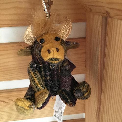 Dora Plaid Highland Cow Key Ring Country Farm Cute Gift Scotland