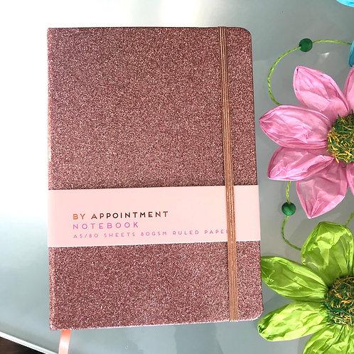 Pink Glitter Notebook Stationery Gift Shop Hinckley